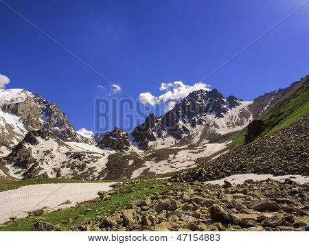 Big mountain abay peak snow sky outdoors poster