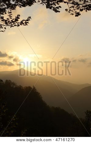 Misty Mountain Sunrise