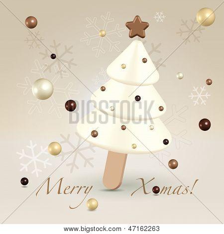 Chocolate Sweet Christmas Greeting Concept