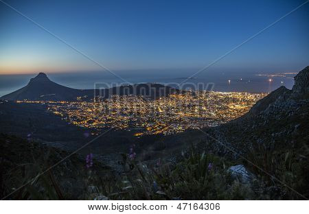 Cape Town, Robben Island at night