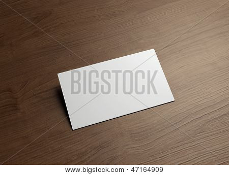 Namecard Horizontal 45Degree Wood
