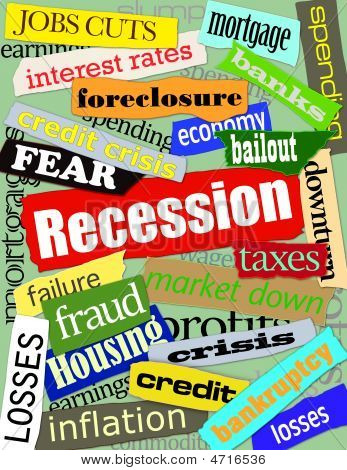Recession Headlines Green Background