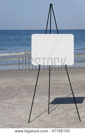 Seaside Blank Sign