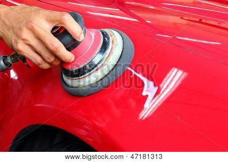 Polished the car