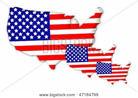Three American Flags