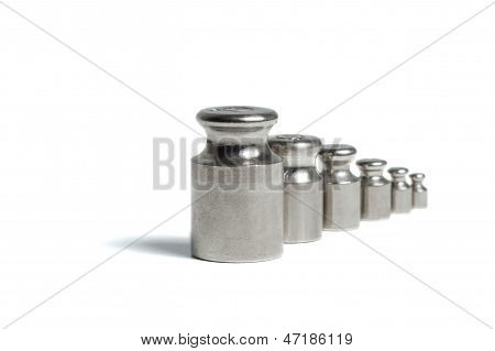 A set of weights for scales
