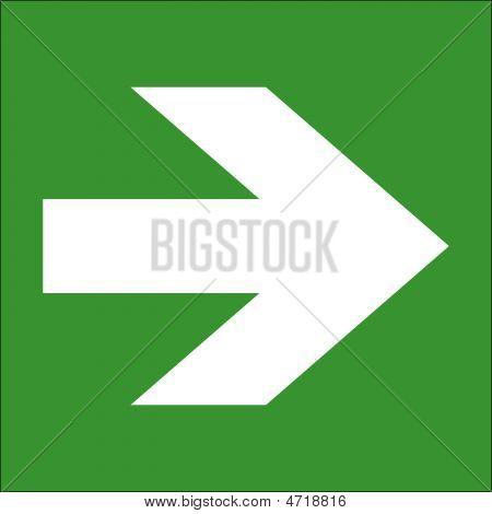 Arrow White On Green.eps