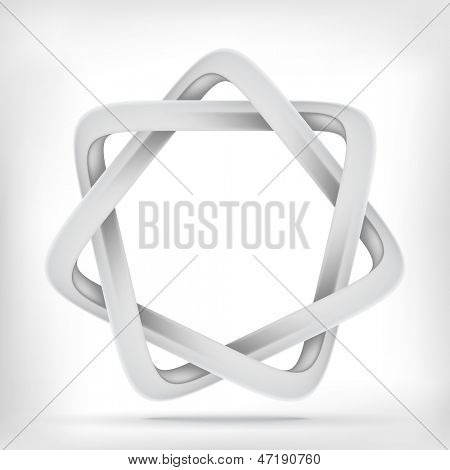 Star infinite loop abstract design template. Vector con. poster