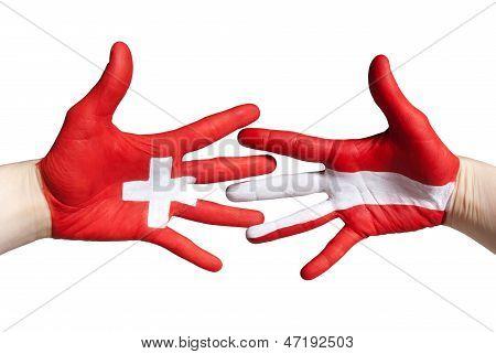 Swiss And Austrian Handshake