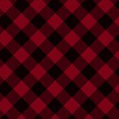 Red and Black Plaid Fabric Background that is seamless and repeats poster