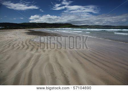 Beach At Curio Bay