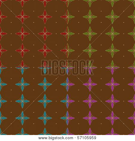 Seamless Abstract Flower Pattern