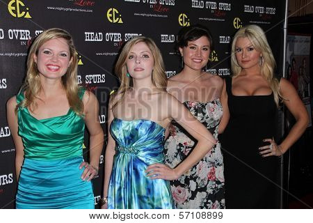 Jen Lilley, Jen Lilley, Leena Huff, Mara Marie at the