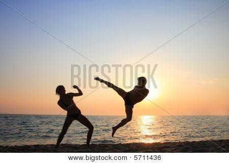 Training At Sunset