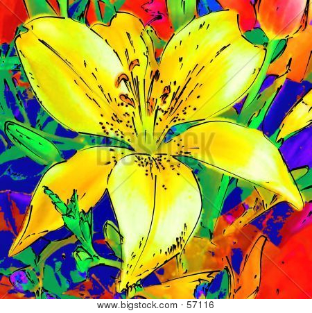 Stylised Floral Background...