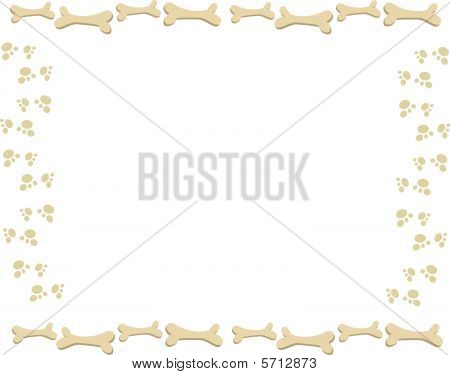Frame of Paw Prints and Bones
