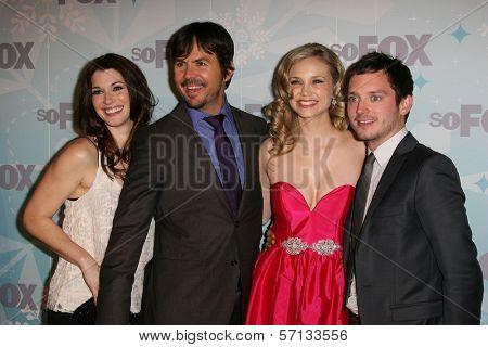 Dorian Brown, Jason Gann, Fiona Gubelmann, Elijah Wood  at the 2011 FOX Winter All-Star Party, Villa Sorriso, Pasadena, CA. 01-11-11