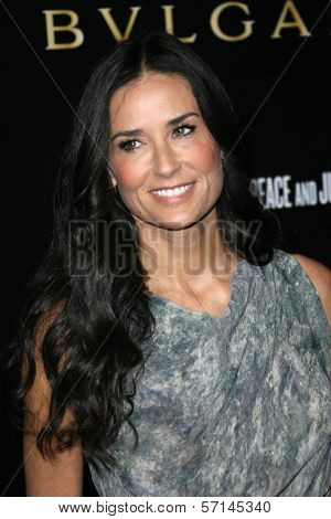 Demi Moore at a Bvlgari Private Event Honoring Simon Fuller And Paul Haggis To Benefit Save The Children And Artists For Peace And Justice, Private Location, Beverly Hills, CA. 01-13-11