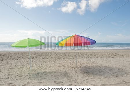 Umbrellas In The Sand