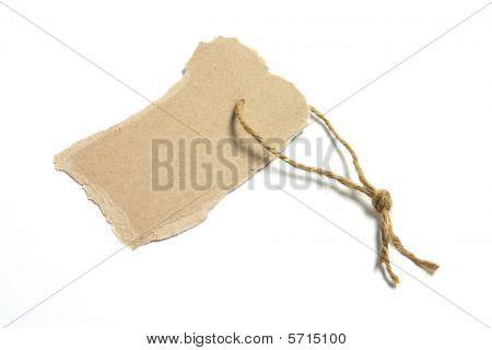 Torn Cardboard Tag