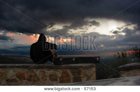 Guitar At Sunset...