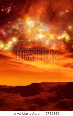 Desert Sands And Night Sky