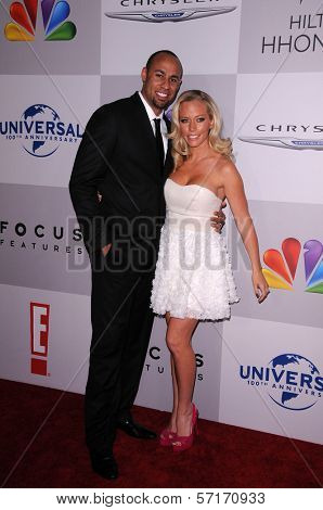 Hank Baskett, Kendra Wilkinson at the NBC/Universal/Focus Features Golden Globes Party, Beverly Hilton Hotel, Beverly Hills, CA 01-15-12