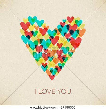 I Love You Valentine Retro Hearth Card