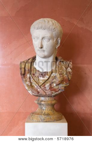 Marble Bust Of Tiberius   Fromthe St.petersburg Hermitage Collection