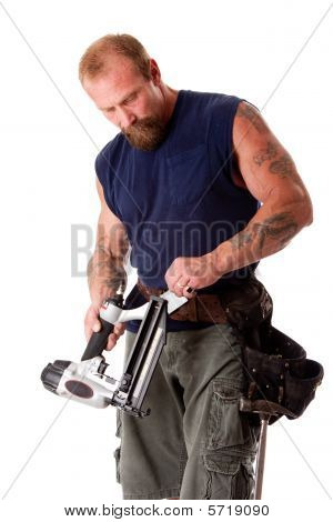 Man With Nail Gun