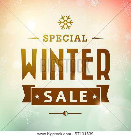 Winter Special Sale Vintage Vector Typography Poster
