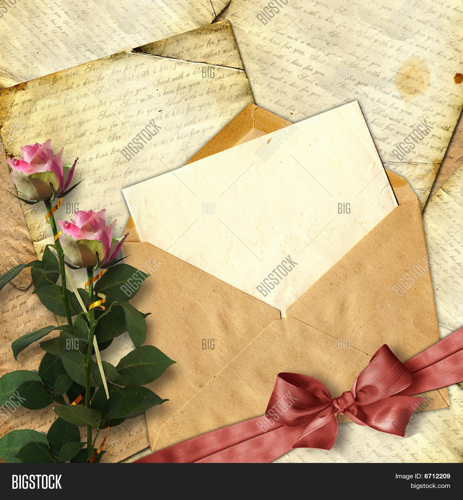 Love Letter Flower On Image Photo Free Trial Bigstock