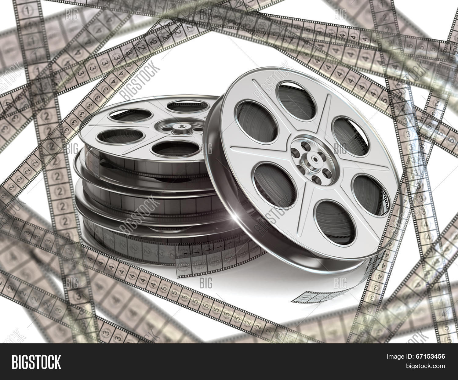 Film reels movie film image photo free trial bigstock film reels and movie film strips 3d thecheapjerseys Choice Image