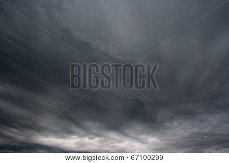 Rainy Clouds Over Horizon.
