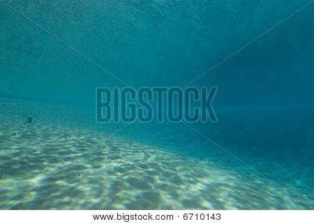 Ripples Of Sunlight Underwater