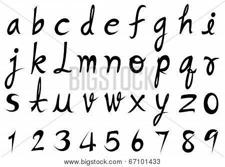 Hand  Lowercase Font