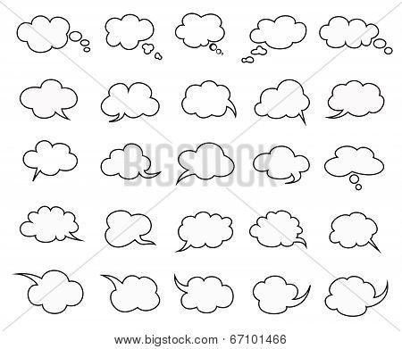 Clouds Speak Bubbles