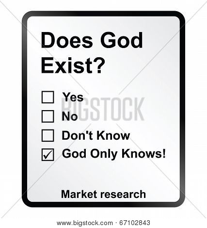 Market Research God Sign
