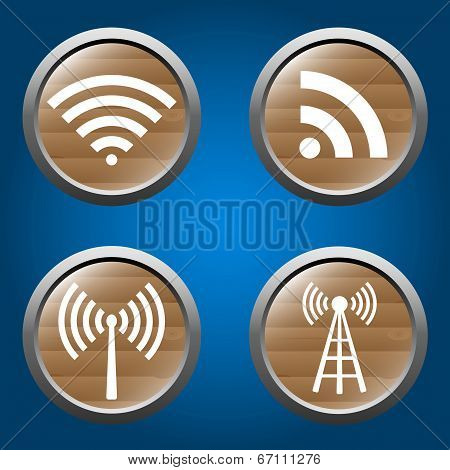 wireless icons set for business or commercial use