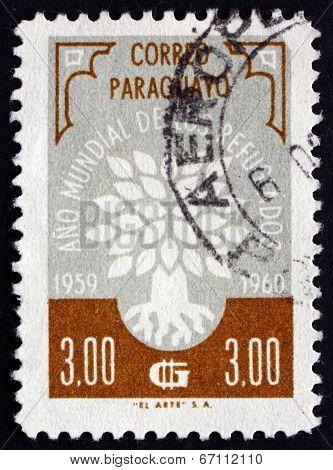 Postage Stamp Paraguay 1960 World Refugee Year Emblem