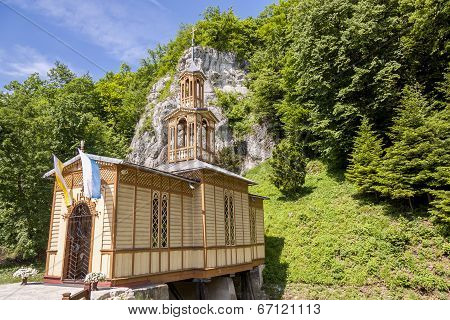 Old Wooden Chapel In Ojcow - Poland.