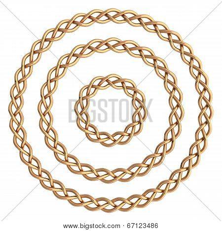 Circle Golden Frame.