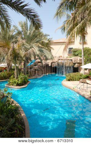 Swimming Pool At Luxury Hotel, Dubai, Uae