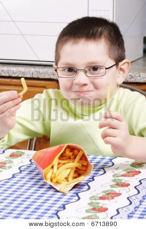 Boy With French Fries