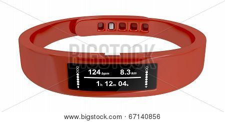 Fitness tracker isolated on a white background poster