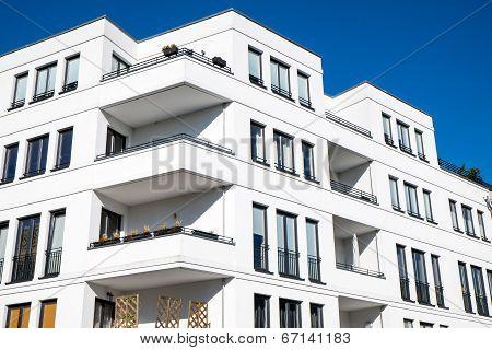 White modern townhouse