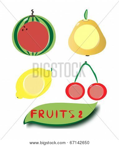 Set of fruit icons