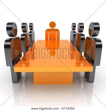 Meeting With Orange Leader