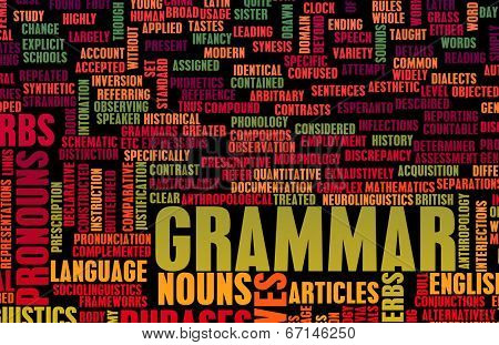 Grammar Learning Concept and Better English Art poster