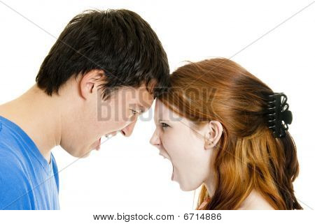Mixed-race Couple Arguing